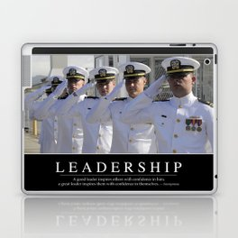 Leadership: Inspirational Quote and Motivational Poster Laptop & iPad Skin