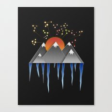 Warm Sun With A Cold Climate Canvas Print