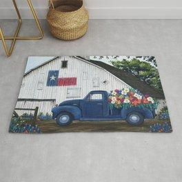 Texan Flower Farm Truck Rug