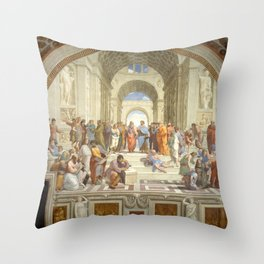 Raphael - The School of Athens Throw Pillow