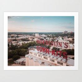 Morrison's Corn-Kits in Denton, TX Art Print