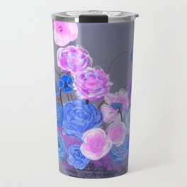The arrangement in blue Travel Mug