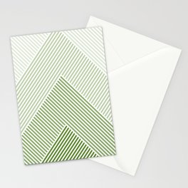 Shades of Green Abstract geometric pattern Stationery Cards