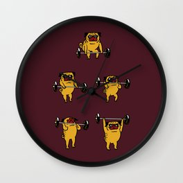 Clean and Jerks Pug Wall Clock