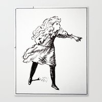 alice x zhang Canvas Prints featuring Alice  by Yann Thompson