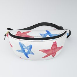 Red and Blue Stars Fanny Pack