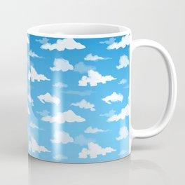 Midday Ombré Sky and Clouds Print Coffee Mug