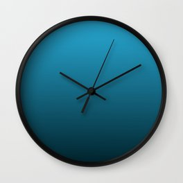 Gradient Collection - Royal Ocean Blue Wall Clock