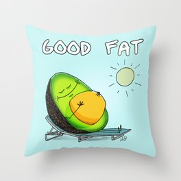 Good Fat - Avocado Belly Throw Pillow