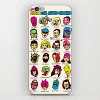 league iPhone & iPod Skins featuring The League of Cliché Evil Super-Villains by Joshua Kemble