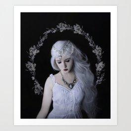 Moon girl silvermoon Art Print