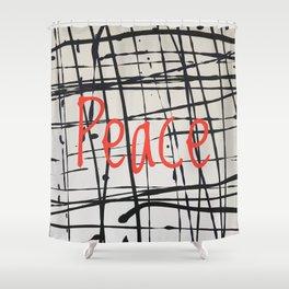 Best foot forward - Peace Shower Curtain