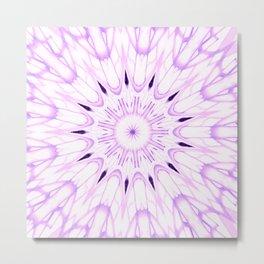 lavender Mandala Explosion Metal Print