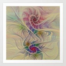 Rainbow Spirals Art Print