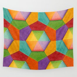 Geometric Rainbows Wall Tapestry