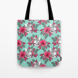 Stylish leopard and cactus flower pattern Tote Bag