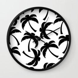 White Beach, Black Out Set - 9 Wall Clock