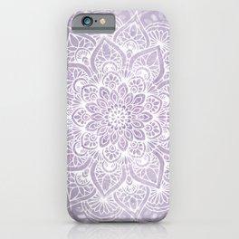 Boho, Mandala, Flower, Purple iPhone Case