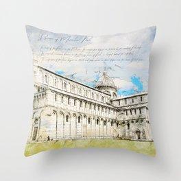 Piazza dei Miracoli Throw Pillow