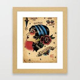 Gipsy tattoo Framed Art Print