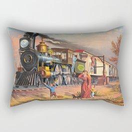 The Fast Mail,  1875 Rectangular Pillow