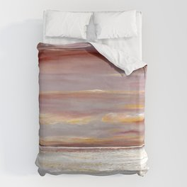 Ferry Boat View Duvet Cover