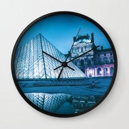 Louvre Museum Paris, France (Color) Wall Clock