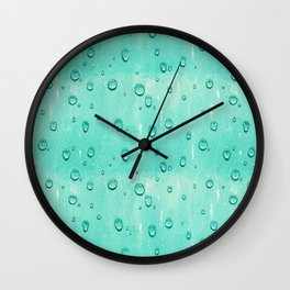 Water Drops Pattern Wall Clock