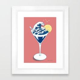 Waves Cocktail Framed Art Print
