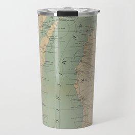 Vintage Lake Michigan Lighthouse Map (1898) Travel Mug