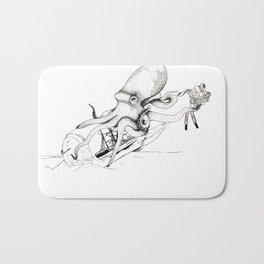 Kraken and the Ship Bath Mat