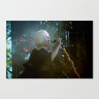 sia Canvas Prints featuring sia live by lizbee