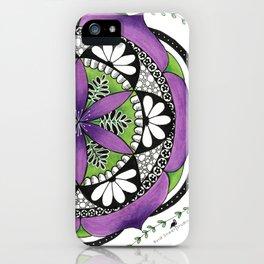 Purple Flower Mandala iPhone Case