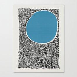 Abstract Blue Lake Canvas Print