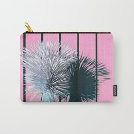 Yucca Plant in Front of Striped Pink Wall Carry-All Pouch