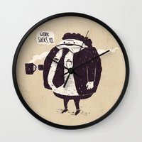 love quotes Wall Clocks featuring Quotes by Ronan Lynam