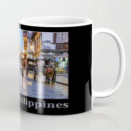 Rush Hour in Vigan City (on black) Coffee Mug