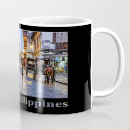 Rush Hour in Vigan City (on black) Coffee Mug