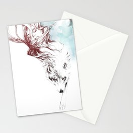 Dreaming about wolves Stationery Cards