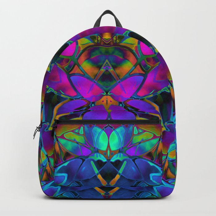Floral Fractal Art G308 Backpack
