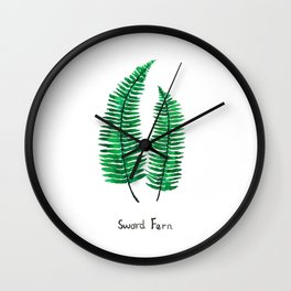 sword fern Wall Clock