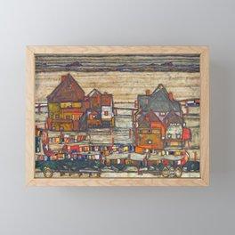 Egon Schiele - Houses with laundry (Suburb II) 1914 Framed Mini Art Print