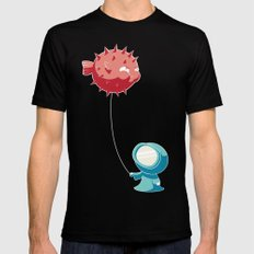 Balloon Black LARGE Mens Fitted Tee