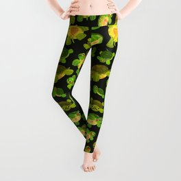 Red-eared slider (dark) Leggings
