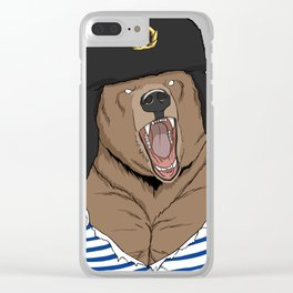Russia Bear Gift Idea for Russians Clear iPhone Case