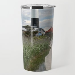 Fire Island Light With Reflection - Long Island Travel Mug