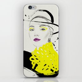 Yellow and Black iPhone Skin