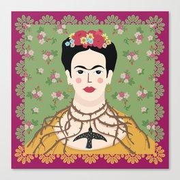 Frida Viva Cushion Canvas Print