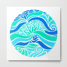 Makin Waves :: Color Therapy Collection :: Metal Print