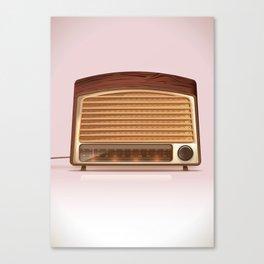 Vintage old retro radio player Canvas Print